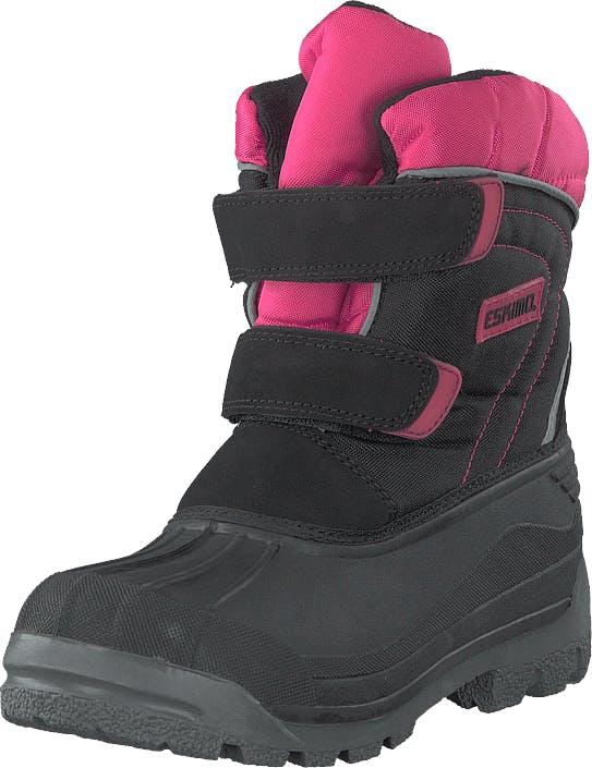 Eskimo Star Black/fuxia, Kengät, Bootsit, Lämminvuoriset kengät, Harmaa, Unisex, 33