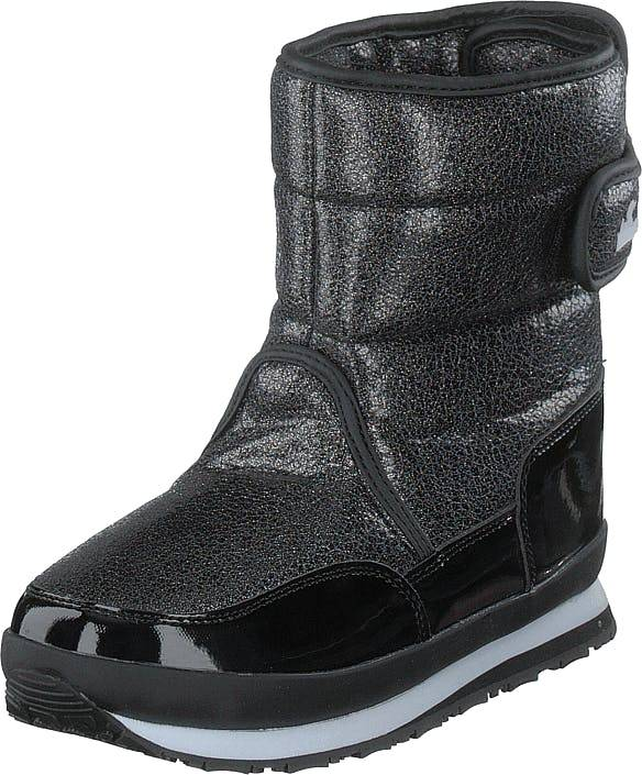 Rubber Duck Rd Glitter Kids Multi, Kengät, Bootsit, Lämminvuoriset kengät, Musta, Harmaa, Lapset, 24