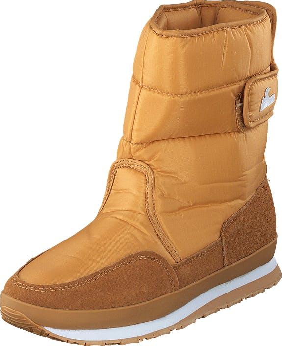 Rubber Duck Rd Nylon Suede Solid Camel Brown, Kengät, Bootsit, Lämminvuoriset kengät, Ruskea, Oranssi, Naiset, 38