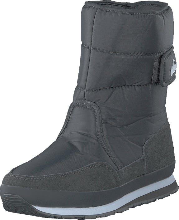 Rubber Duck Rd Nylon Suede Solid Charcoal, Kengät, Bootsit, Lämminvuoriset kengät, Harmaa, Naiset, 37