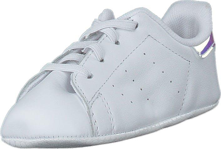 Image of Adidas Originals Stan Smith Crib Ftwr White/ftwr White/silver M, Kengät, Sneakerit ja urheilukengät, Varrettomat tennarit, Valkoinen, Lapset, 21