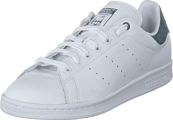 Image of Adidas Originals Stan Smith W Ftwr White/tech Mineral/core B, Kengät, Sneakerit ja urheilukengät, Varrettomat tennarit, Valkoinen, Naiset, 39