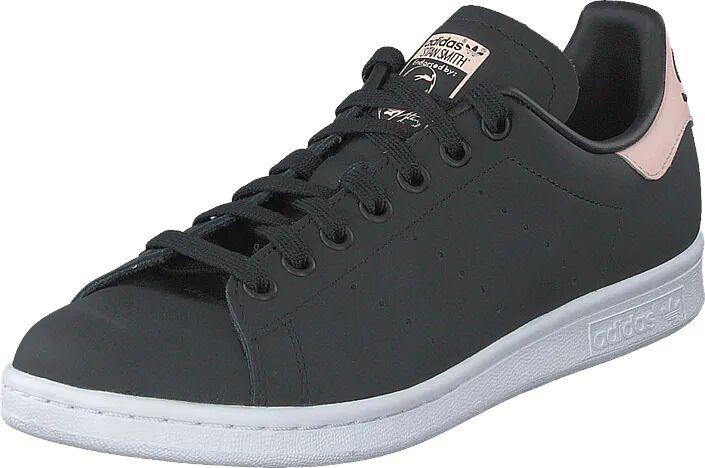 Image of Adidas Originals Stan Smith W Core Black/icey Pink F17/ftwr, Kengät, Sneakerit ja urheilukengät, Varrettomat tennarit, Musta, Naiset, 41