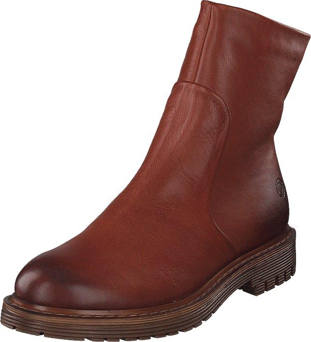 Sneaky Steve Solid Cognac, Kengät, Bootsit, Chelsea boots, Ruskea, Punainen, Naiset, 36
