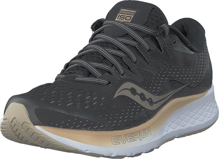 Saucony Ride Iso 2 Black / Gold, Kengät, Sneakerit ja urheilukengät, Urheilukengät, Musta, Kulta, Harmaa, Naiset, 38