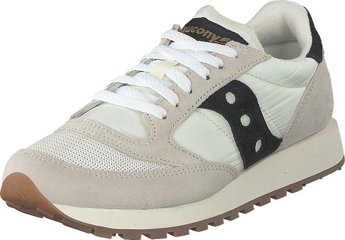 Saucony Jazz Vintage White / Black, Kengät, Sneakerit ja urheilukengät, Sneakerit, Beige, Valkoinen, Naiset, 37