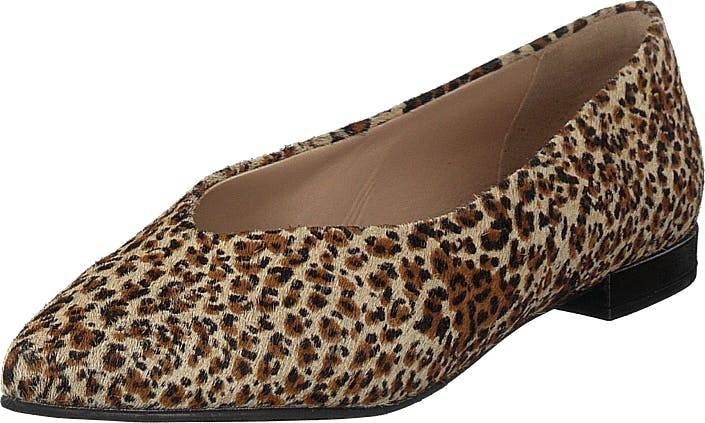 Shoe Biz Hibiscus Leopardo, Kengät, Korkokengät, Matalakorkoiset avokkaat, Ruskea, Naiset, 39