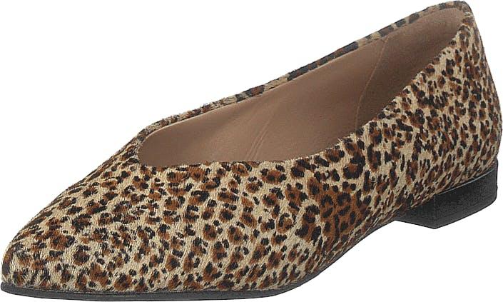 Shoe Biz Hibiscus Leopardo, Kengät, Korkokengät, Matalakorkoiset avokkaat, Ruskea, Naiset, 38