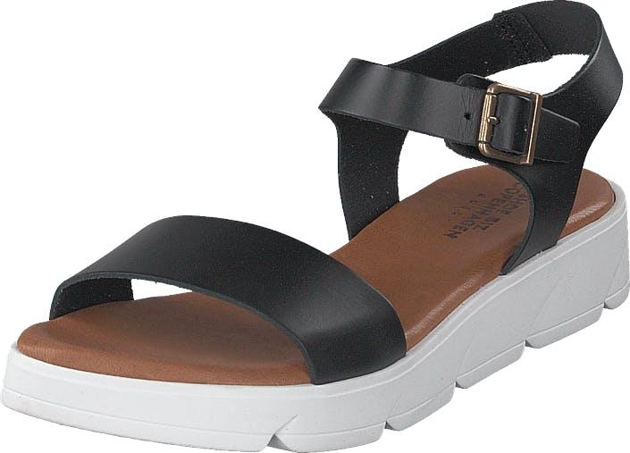 Shoe Biz Tito Black, Kengät, Sandaalit ja Tohvelit, Remmisandaalit, Harmaa, Ruskea, Naiset, 36