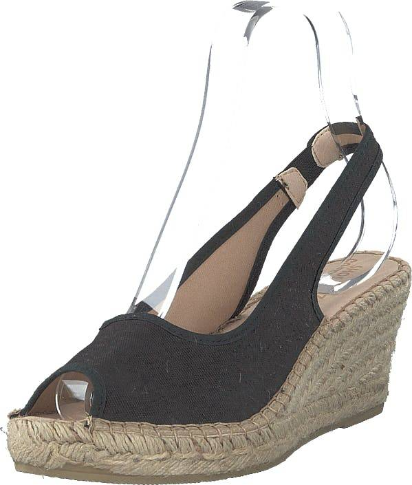 Shoe Biz Freya 5-rows Black, Kengät, Korkokengät, Matalakorkoiset Sandaletit, Beige, Naiset, 39