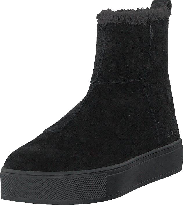 Svea Suede Pile Boot Black, Kengät, Bootsit, Curlingkengät, Musta, Naiset, 37