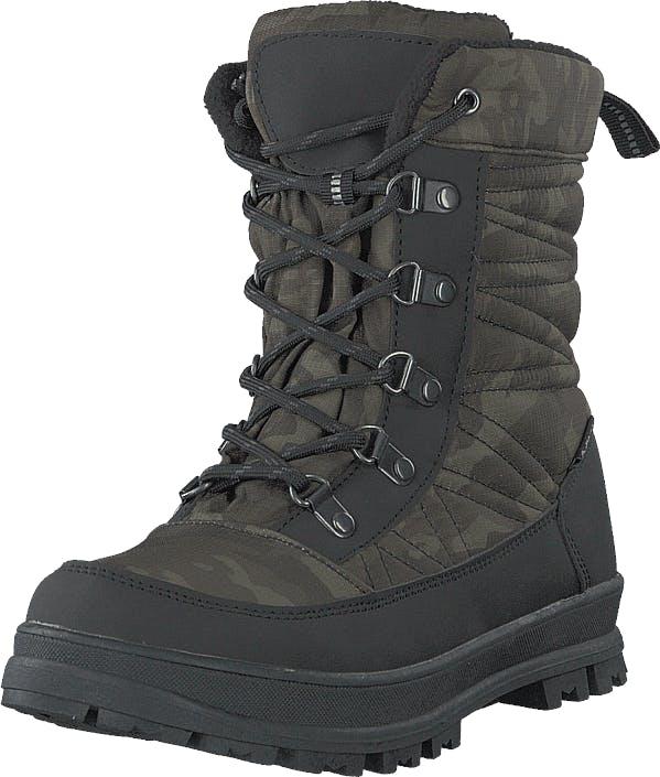 Gulliver 430-9982 Waterproof Warm Linin Green, Kengät, Bootsit, Lämminvuoriset kengät, Harmaa, Unisex, 28