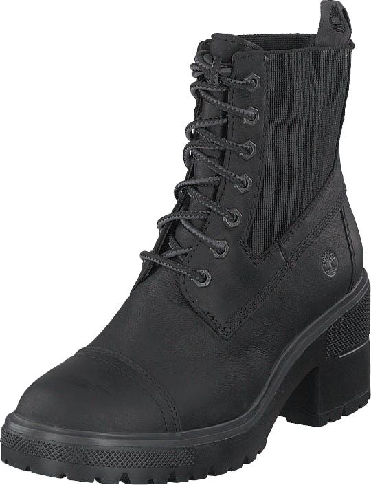 Timberland Silver Blossom Mid Bootie Jet Black, Kengät, Bootsit, Lämminvuoriset kengät, Musta, Naiset, 38