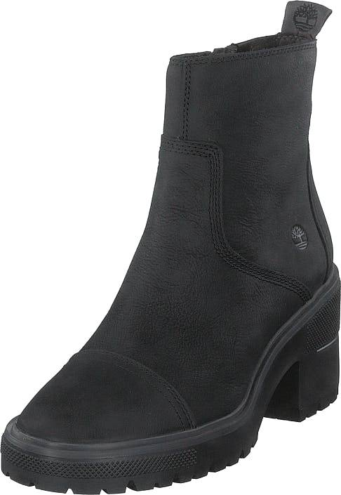 Timberland Silver Blossom Side Zip Ankle Jet Black, Kengät, Saappaat ja saapikkaat, Nilkkurit, Musta, Naiset, 36
