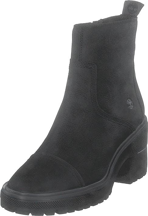 Timberland Silver Blossom Side Zip Ankle Jet Black, Kengät, Saappaat ja saapikkaat, Nilkkurit, Musta, Naiset, 37