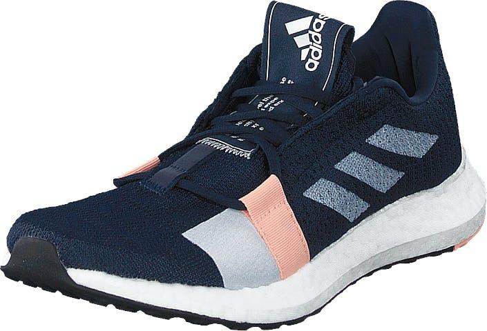 Adidas Sport Performance Senseboost Go W Collegiate Navy/ftwr White/glo, Kengät, Tennarit ja Urheilukengät, Sneakerit, Sininen, Naiset, 42