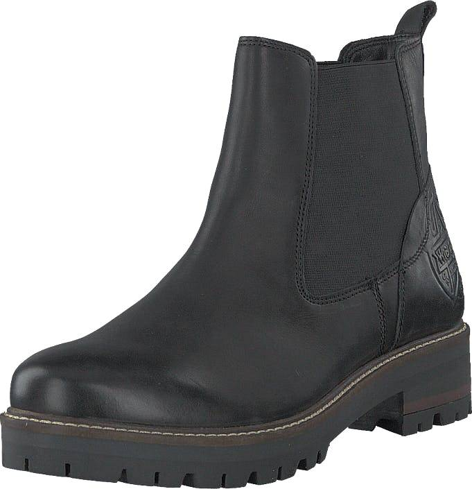 Wrangler Denver Chelsea Black, Kengät, Bootsit, Chelsea boots, Musta, Harmaa, Naiset, 37