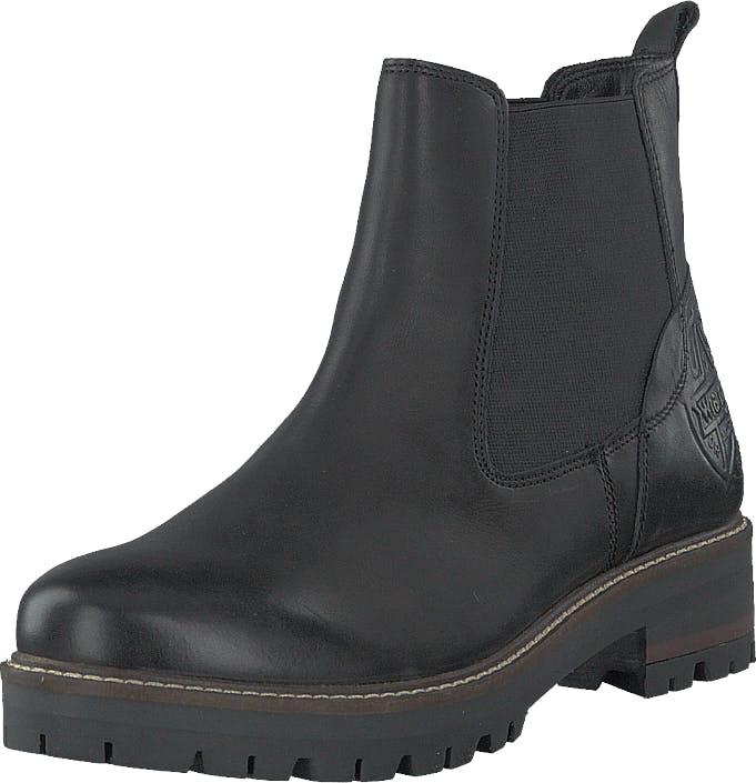 Wrangler Denver Chelsea Black, Kengät, Bootsit, Chelsea boots, Musta, Harmaa, Naiset, 38