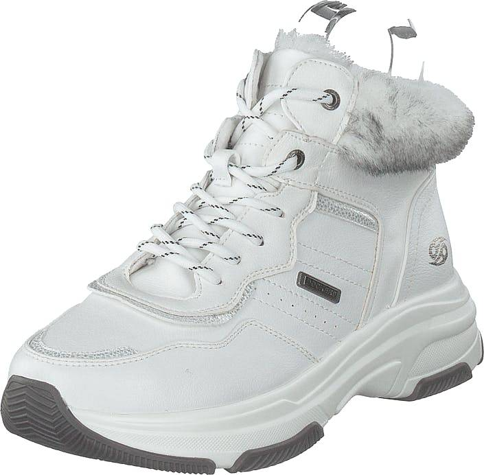 Dockers by Gerli 44dc305-610500 White, Kengät, Sneakerit ja urheilukengät, Korkeavartiset tennarit, Valkoinen, Naiset, 38