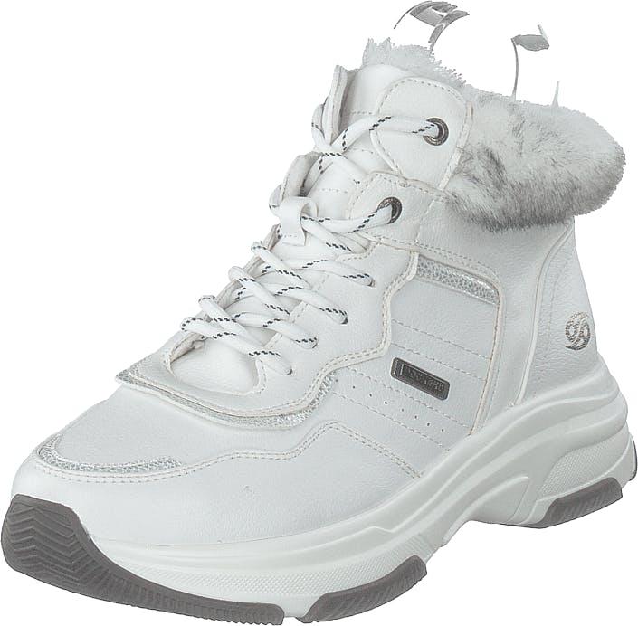 Dockers by Gerli 44dc305-610500 White, Kengät, Sneakerit ja urheilukengät, Korkeavartiset tennarit, Valkoinen, Naiset, 39