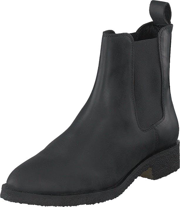 Shoe Biz Kassidy Crazy Horse Black, Kengät, Bootsit, Chelsea boots, Musta, Naiset, 36