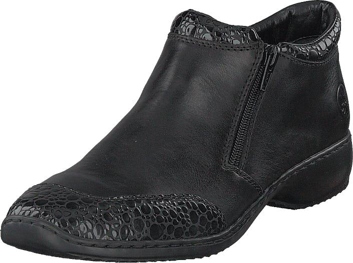 Rieker L3862-45 Granit, Kengät, Matalapohjaiset kengät, Juhlakengät, Musta, Naiset, 39