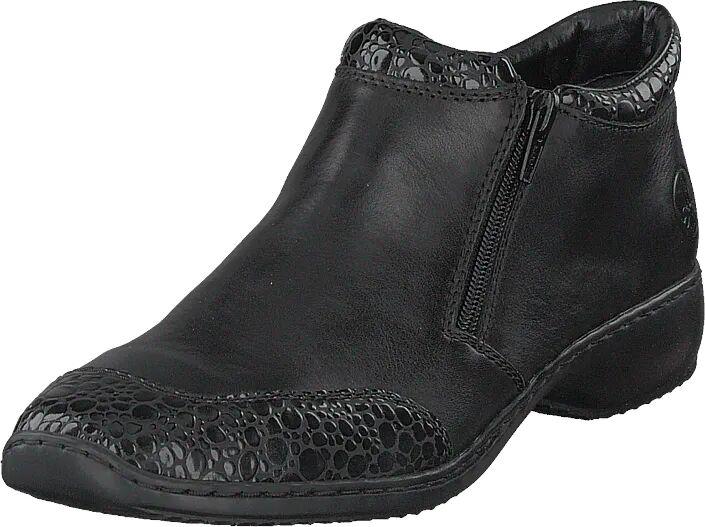 Rieker L3862-45 Granit, Kengät, Matalapohjaiset kengät, Juhlakengät, Musta, Naiset, 38