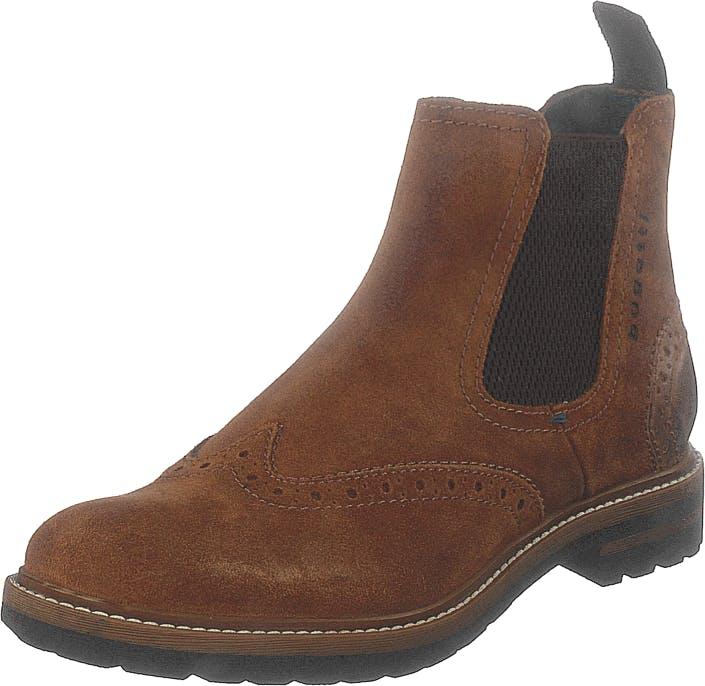 Bugatti Silvestro Cognac, Kengät, Bootsit, Chelsea boots, Ruskea, Miehet, 44