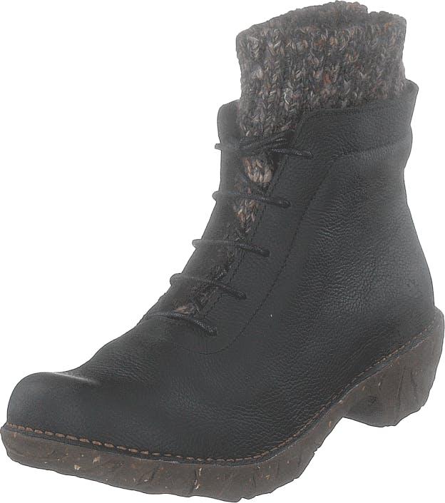 Image of El Naturalista Yggdrasil Black, Kengät, Bootsit, Kengät, Musta, Naiset, 40