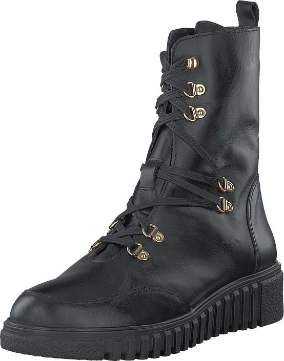 Ilse Jacobsen Tulip6001 Black, Kengät, Bootsit, Korkeavartiset bootsit, Musta, Harmaa, Naiset, 41