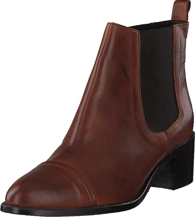 Bianco Biacarol Dress Chelsea Cognac, Kengät, Bootsit, Chelsea boots, Ruskea, Naiset, 40