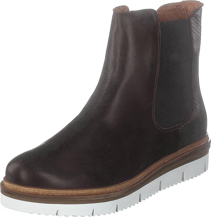 Bianco Biastella Cleated Chelsea Dark Brown, Kengät, Bootsit, Chelsea boots, Ruskea, Naiset, 41