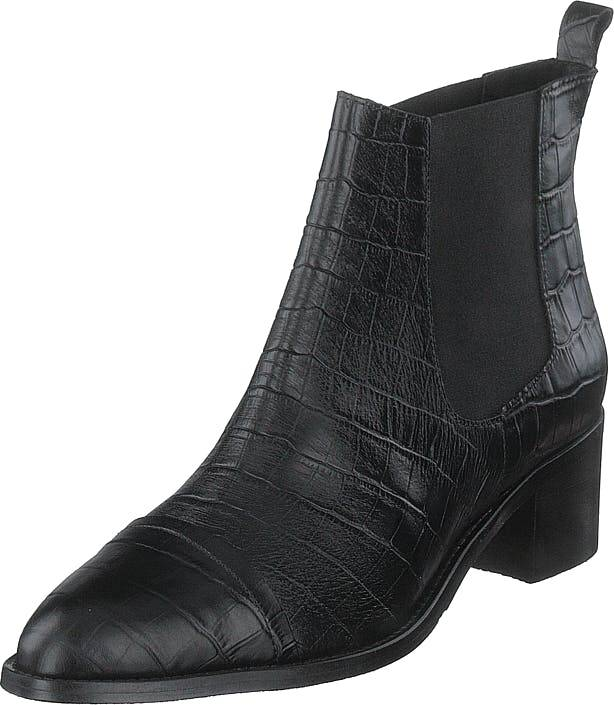 Bianco Biacarol Croco Dress Chelsea Black, Kengät, Saappaat ja Saapikkaat, Nilkkurit, Musta, Naiset, 40