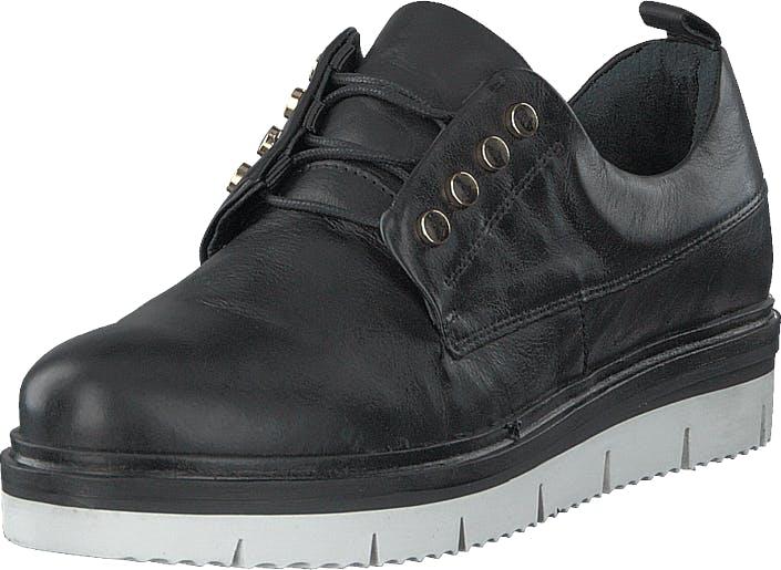 Bianco Biastella Leather Laced Shoe Black, Kengät, Matalat kengät, Kävelykengät, Musta, Harmaa, Naiset, 41