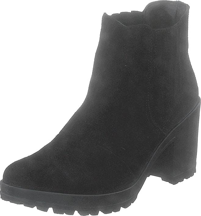 Bianco Biacorvina Suede Boot Black, Kengät, Saappaat ja Saapikkaat, Nilkkurit, Musta, Naiset, 40