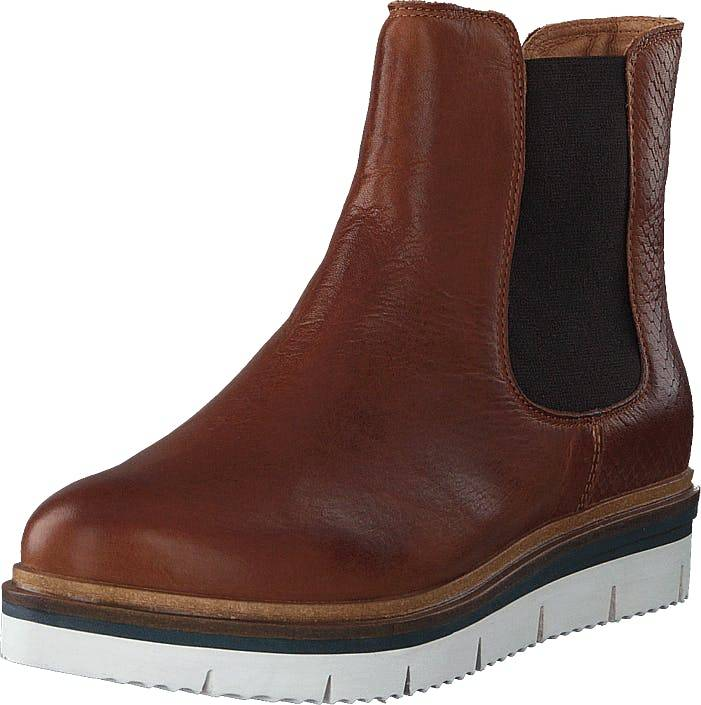 Bianco Biastela Winter Chelsea Cognac, Kengät, Bootsit, Chelsea boots, Ruskea, Naiset, 37