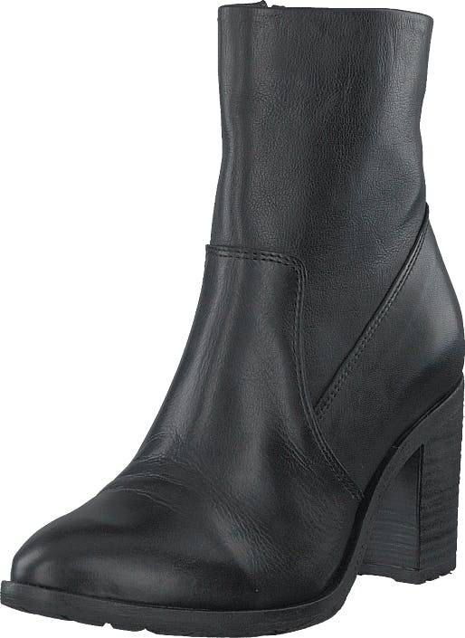 Bianco Biacofia Leather Boot Black, Kengät, Saappaat ja Saapikkaat, Korkeat nilkkurit, Musta, Harmaa, Naiset, 41