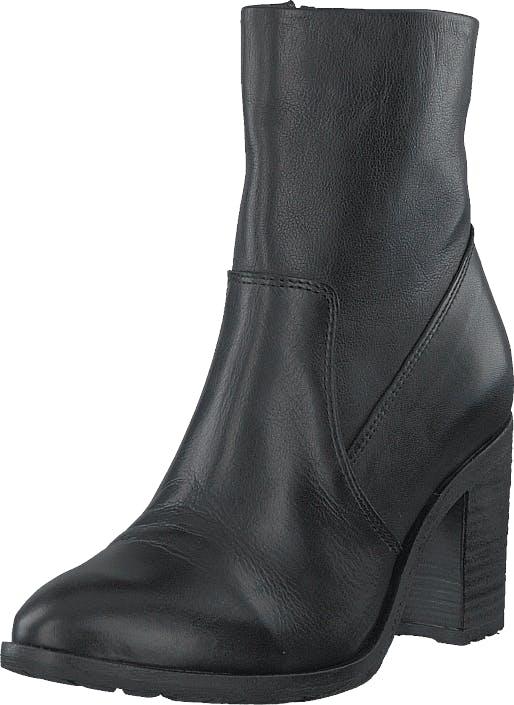 Bianco Biacofia Leather Boot Black, Kengät, Saappaat ja Saapikkaat, Korkeat nilkkurit, Musta, Harmaa, Naiset, 37