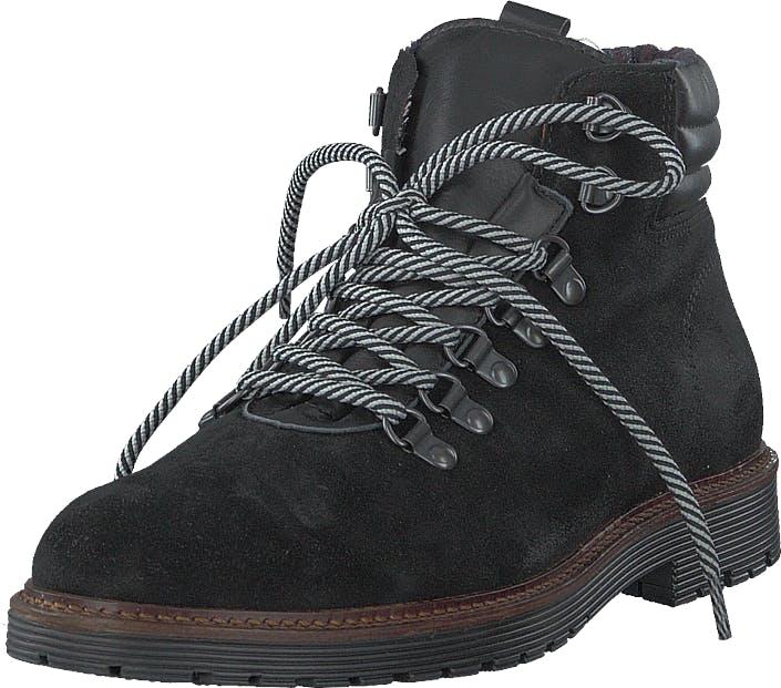 Bianco Biacarrick Suede Boot Black, Kengät, Bootsit, Kengät, Musta, Miehet, 46