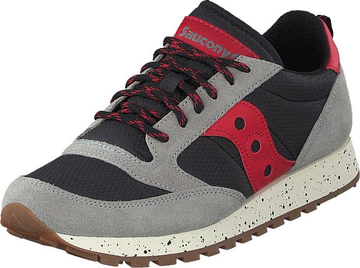 Saucony Jazz Original Outdoor Grey/black/red, Kengät, Sneakerit ja urheilukengät, Sneakerit, Harmaa, Unisex, 39