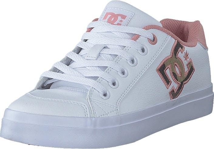 DCShoe Shoes Chelsea Plus Se Sn White/pink, Kengät, Tennarit ja Urheilukengät, Varrettomat tennarit, Valkoinen, Naiset, 38