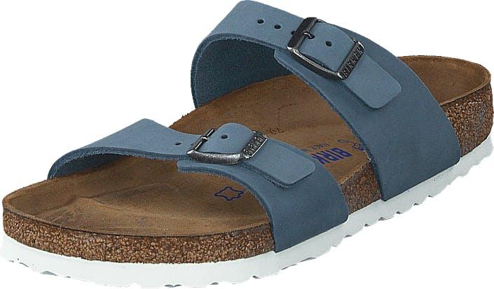 Birkenstock Sydney Sfb Dove Blue, Kengät, Sandaalit ja Tohvelit, Sandaalit, Sininen, Ruskea, Naiset, 36