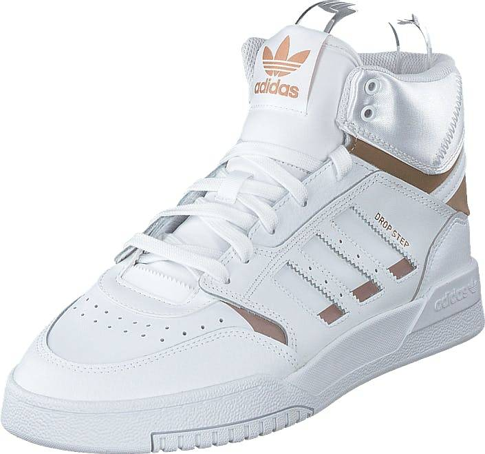 Image of Adidas Originals Drop Step W Ftwr White/copper Met./ftwr Wh, Kengät, Sneakerit ja urheilukengät, Korkeavartiset tennarit, Pronssi, Valkoinen, Naiset, 38