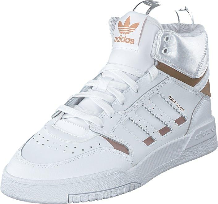 Image of Adidas Originals Drop Step W Ftwr White/copper Met./ftwr Wh, Kengät, Sneakerit ja urheilukengät, Korkeavartiset tennarit, Pronssi, Valkoinen, Naiset, 36