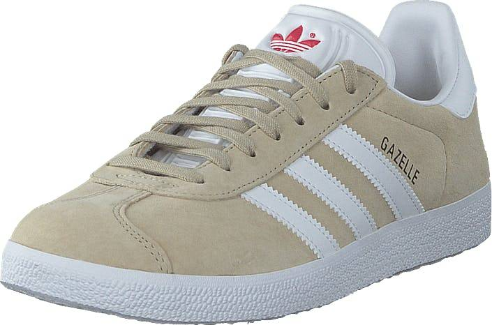 Image of Adidas Originals Gazelle W Savannah/ftwr White/glory Red, Kengät, Sneakerit ja urheilukengät, Varrettomat tennarit, Beige, Naiset, 40
