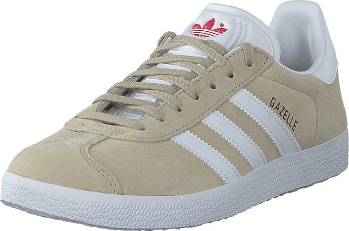 Image of Adidas Originals Gazelle W Savannah/ftwr White/glory Red, Kengät, Sneakerit ja urheilukengät, Varrettomat tennarit, Beige, Naiset, 41