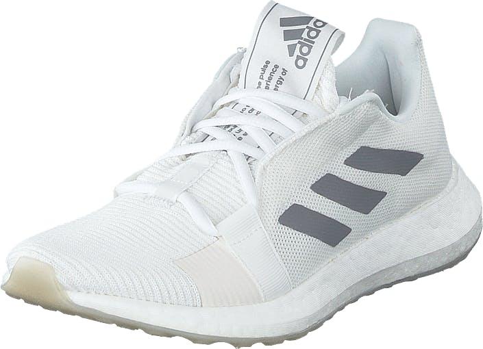 Adidas Sport Performance Senseboost Go W Ftwr White/grey Three F17/chal, Kengät, Tennarit ja Urheilukengät, Urheilukengät, Valkoinen, Naiset, 38