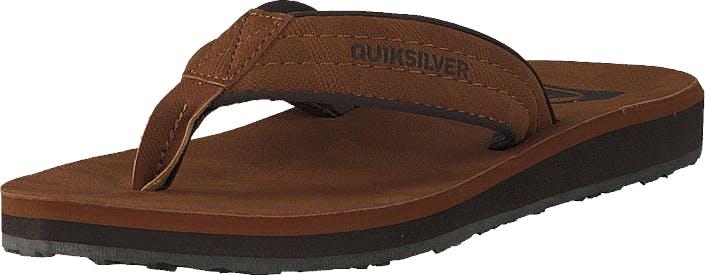 Quiksilver Carver Nubuck Brown/brown/brown, Kengät, Sandaalit ja Tohvelit, Flip Flopit, Ruskea, Miehet, 44