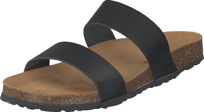 Bianco Biabetricia Twin Strap Sandal 100 Black, Kengät, Sandaalit ja Tohvelit, Sandaalit, Ruskea, Naiset, 41