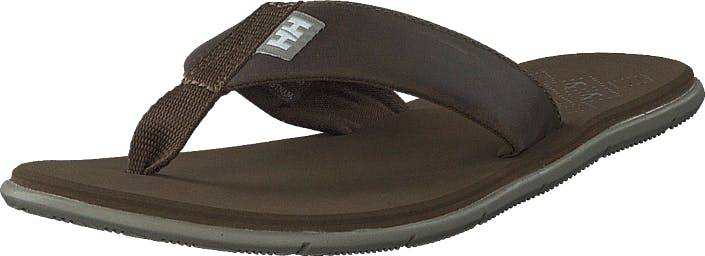 Image of Helly Hansen W Seasand Leather Sandal Fossil / Aluminium, Kengät, Sandaalit ja Tohvelit, Flip Flopit, Ruskea, Naiset, 36